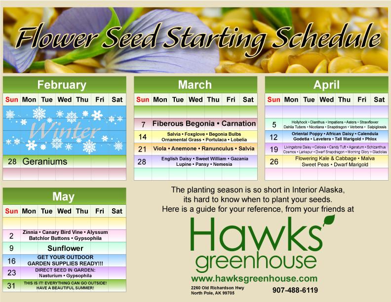 Seeding Calendar